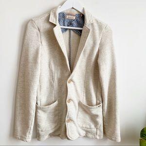 Scotch & Soda Casual Cotton Blend Blazer Beige S